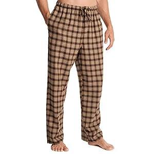 SIORO Flannel Pajama Pants for Men, Soft Cotton Plaid Sleepwear Loungewear Bottoms
