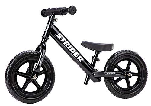 Strider 12 Sport Balance Bike, Bicicletta per Bambini, 18 Mesi - 5 Anni, Nero