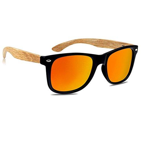 VIENTO Hybrid Forest Gafas de Sol de Madera (Naranja)