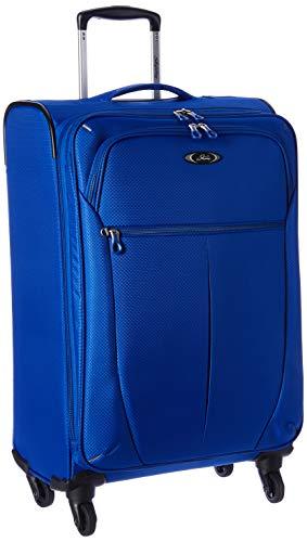 Skyway Luggage Mirage Superlight 24-Inch 4 Wheel Expandable Upright, Maritime Blue, One Size, Checked-Medium