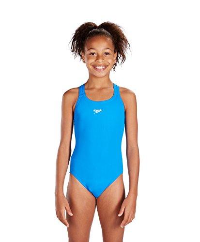 Speedo End+ Medalist 1-Pce Grls Costume da Bagno Junior, Blu, 14 anni
