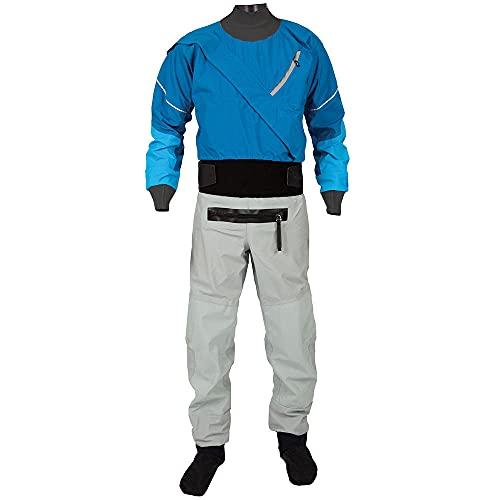 Manspyf Traje seco transpirable con cremallera frontal para hombre, bote hinchable, kayak y traje seco