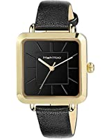Women's Leather Strap Watch, Black Watch for Women with Easy Reader for Lady/Girls Dress Casual Analog Quartz Watch Waterproof 30m