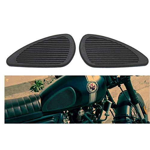 Motorcycle Tank Knee Pad Vintage Gas Knee Protector Sticker for Honda Triumph Yamaha Harley (Black)