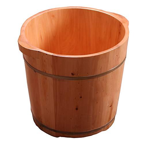 YSZYP Cypress hout diep bad, voet bad vat huishoudelijke voet bad vat, verhogen wastafel massief hout wastafel met deksel vrouwelijke voet bad vat, 36cm