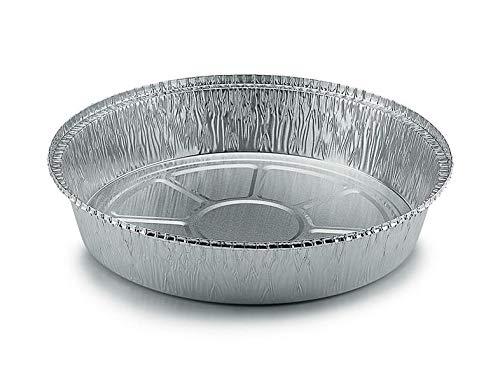 Aluschalen Grill rund mit Deckel ohne Deckel Grillschale Aluminium Schale Tropfschale Menüschalen Einwegschale Fettauffangschale 1380ml 23x4cm