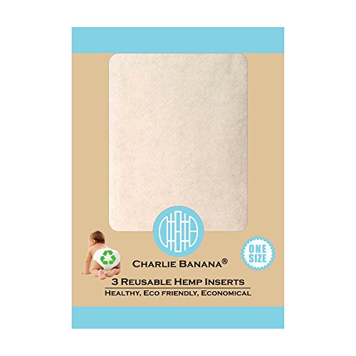 .Winc Design Limited. Charlie Banana Wiederverwendbare Hanf Einlagen, Größe 1, klein, 3-teilig