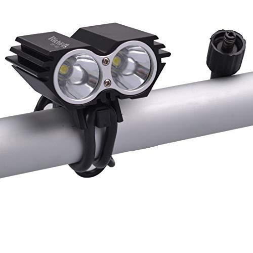 HQ's perfect store Équipement de vélo 2 LED 2000 LM CREE XML-T6 Phares de vélo à LED, Blanc Froid, 3 Modes stroboscopiques Rapides, Taille: 6,0 x 4,5 x 4,0 cm Sûr et Pratique
