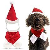 Gatos Sombrero de Papá Noel para mascotas Perros Disfraz de Navidad Perro Disfraz de gato Sombrero de Navidad Disfraz de Navidad para gatos y cachorros para perros pequeños medianos y grandes 2 piezas