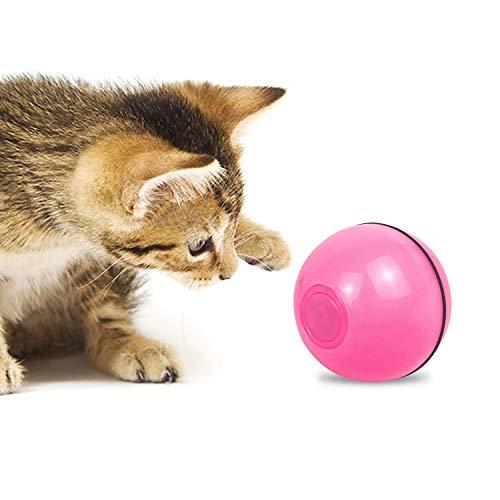 Ajcoflt Bola interactiva de Juguetes para Gatos Bola de roda