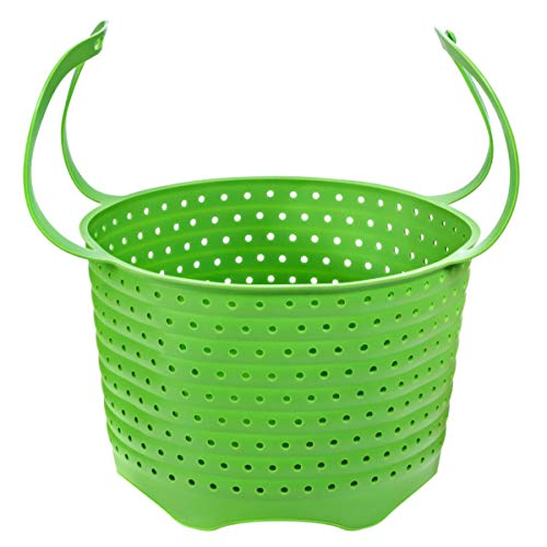 Silicone Steamer Basket   Foldable, Space-Saving   Fits 6,8 Qt Instant Pot and Similar-Sized Pressure Cookers Accessories