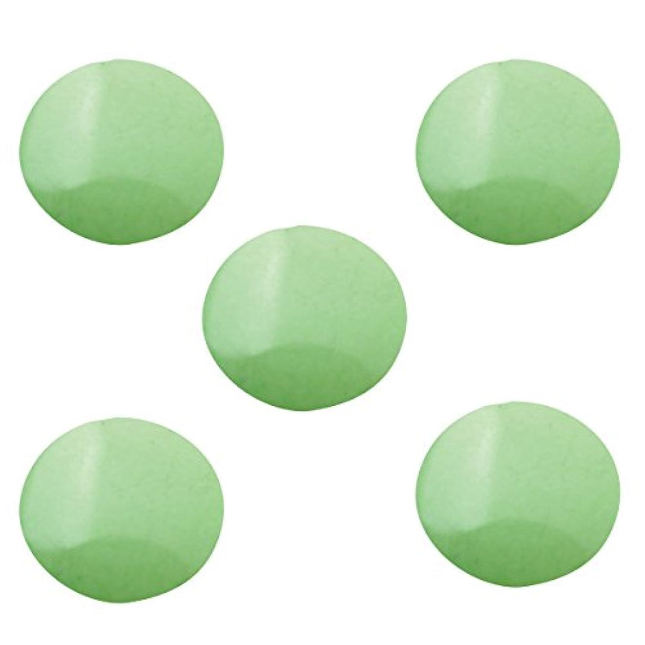 ナプキン幸運なことに体系的にパステルスタッズ ラウンド 3mm (100個入り) グリーン