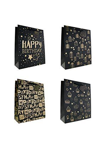10 Geschenktüten Geburtstag large folienverziert 26 x 32 x 10 cm Geschenktaschen Geschenkbeutel Taunus Grußkarten Verlag 99-0526-3