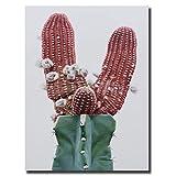 HYFBH Impresionante Arte de Pared de Cactus hiperrealista Lienzo nórdico Carteles Impresiones...