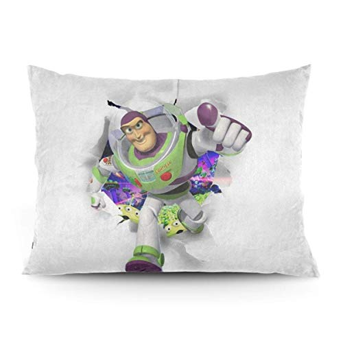 ZLCMMF Toy Story Buzz Lightyear Throw Pillow Covers Decorative Cotton Pillowcases for Living Room Sofa Couch Bed Soft Pillow Cases 20 x 26 Inch