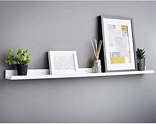 xzl Estante flotante para fotos de pared fácil de instalar, estante creativo de pared, tablero de palabras para decoración de pared de TV