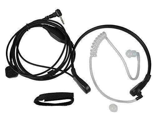 KENMAX Throat Mic Air Tube Earpiece Headset New Black for Two Way Radio Walkie Talkie Motorola T5700, T5720, T5800, T5820, T5920,