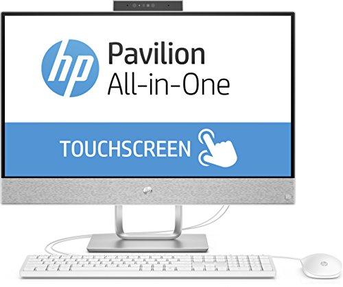HP Pavilion 24-x053ng 60,45 cm (23,8 Zoll Full-HD-IPS Touchscreen) All-in-One Desktop-PC (Intel Core i7-7700T, 16GB RAM, 1TB SSD, Windows 10 Home 64) weiß