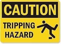 ガレージのホームガーデンストアバーカフェ&安全、安全標識の凡例注意:トリッピングハザード、家の装飾のためのプロパティ通知サインプラークの面白い警告サイン