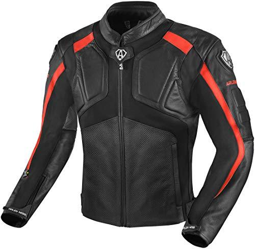Arlen Ness Sportivo Motorrad Racing Sport Lederjacke Gr. M, schwarz/red