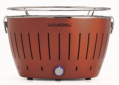 LotusGrill Kupferbraun mit USB-Anschluß –Neue Sonderfarbe! Limited-Edition! Der raucharme Holzkohlegrill/Tischgrill. Garantiert die neueste Technik –Robuster,langlebiger Edelstahlkohlebehälter