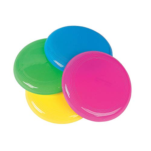 Fun Express Mini Flying Disks (Bulk Set of 72 Saucers) Outdoor Toys for Kids