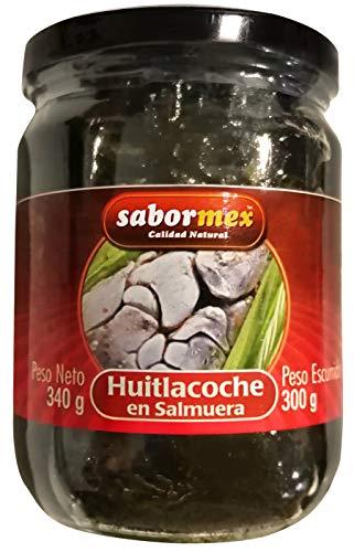 SABORMEX Huitlacoche 340 gr Cuitlacoche en Salmuera Hongo del Maíz Mexicano Comida Típica de México Guisos Quesadillas Tacos
