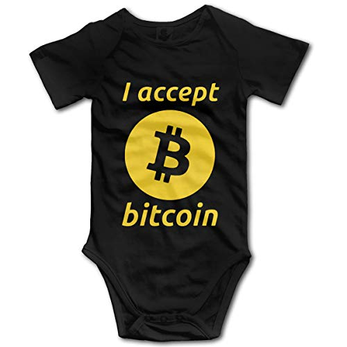 Jigsaw I Accept Bitcoin Baby Onesies Unisex Babys Climbing Clothes Bodysuits Romper Short Sleeved Light Onesies for 0-24 Months Black 2t