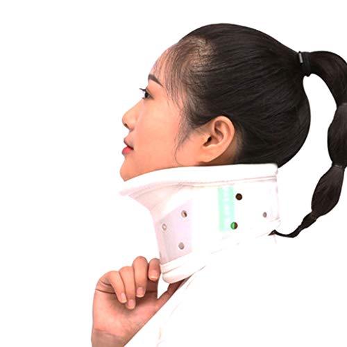 DONGBALA Hals Halswirbelsäule Zugkragen Feste Stützhöhe einstellbar für Nackenschmerzen Halswirbel Korrektur atmungsaktiv,A,L