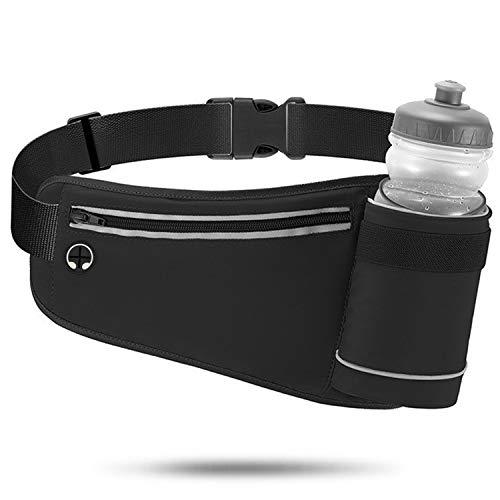 Running Belt for Women Men, Fanny Pack Waist Pack Bag Belt with Water Bottle Holder, No Bounce Reflective Hydration Belt for Runners, Marathon, Fitness Training, Hiking and Jogging