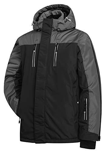 Heihuohua Men's Windproof Parka Ski Jacket Waterproof Winter Snow Raincoat