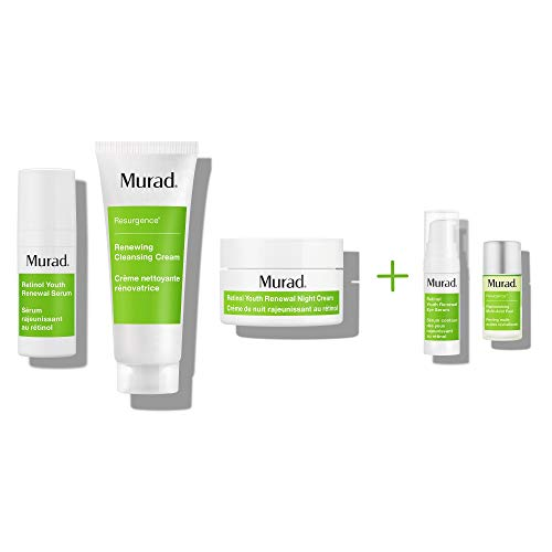 Murad Active Renewal Regimen Kits With Retinol Youth Renewal Serum, Renewing Cleansing Cream, Retinol Youth Renewal Night Cream, Retinol Youth Renewal Eye Serum and Replenishing Multi Acid Peel
