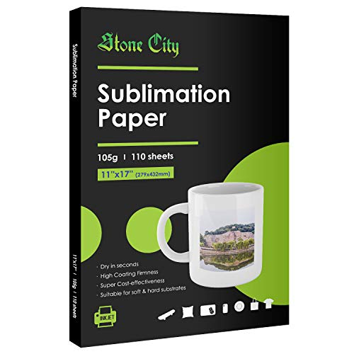 Sublimation Paper 110 Sheets 11X17 for Heat Transfer DIY gift Compatible with Inkjet Printer with Sublimation Ink