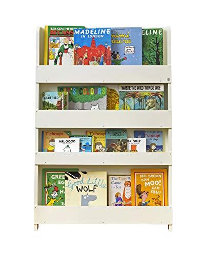 Tidy Books ® Estanteria Infantil, Librería Montessori para niños, Biblioteca de Pared, Madera, Color Crema, 115 x 77 x 7 cm, Eco Friendly, Hecho a Mano, La Original Desde 2004