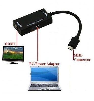1080P Micro USB a HDMI MHL Cable adaptador para Sony Xperia Z2, Z3, Z4