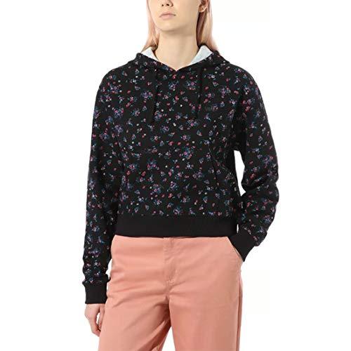 Preisvergleich Produktbild Vans Damen Beauty FLORAL Hoodie Kapuzenpullover,  Schwarz,  36