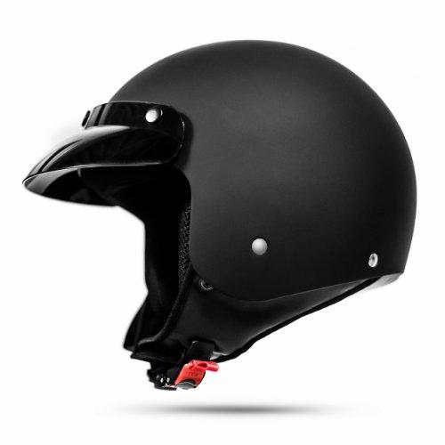 028 Retro Casco de la Policía Casco de la Motocicleta Bicicleta Personalizada...