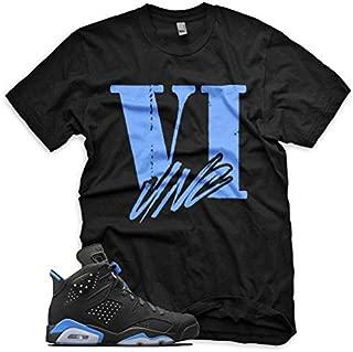 New VI Unc T Shirt for Jordan Retro 6 VI University Blue UNC