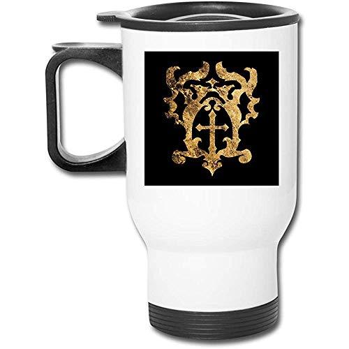 Castlevania Belmont Crest 16 oz Edelstahl Becher doppelwandige Vakuumkaffeetasse mit spritzwassergeschütztem Deckel