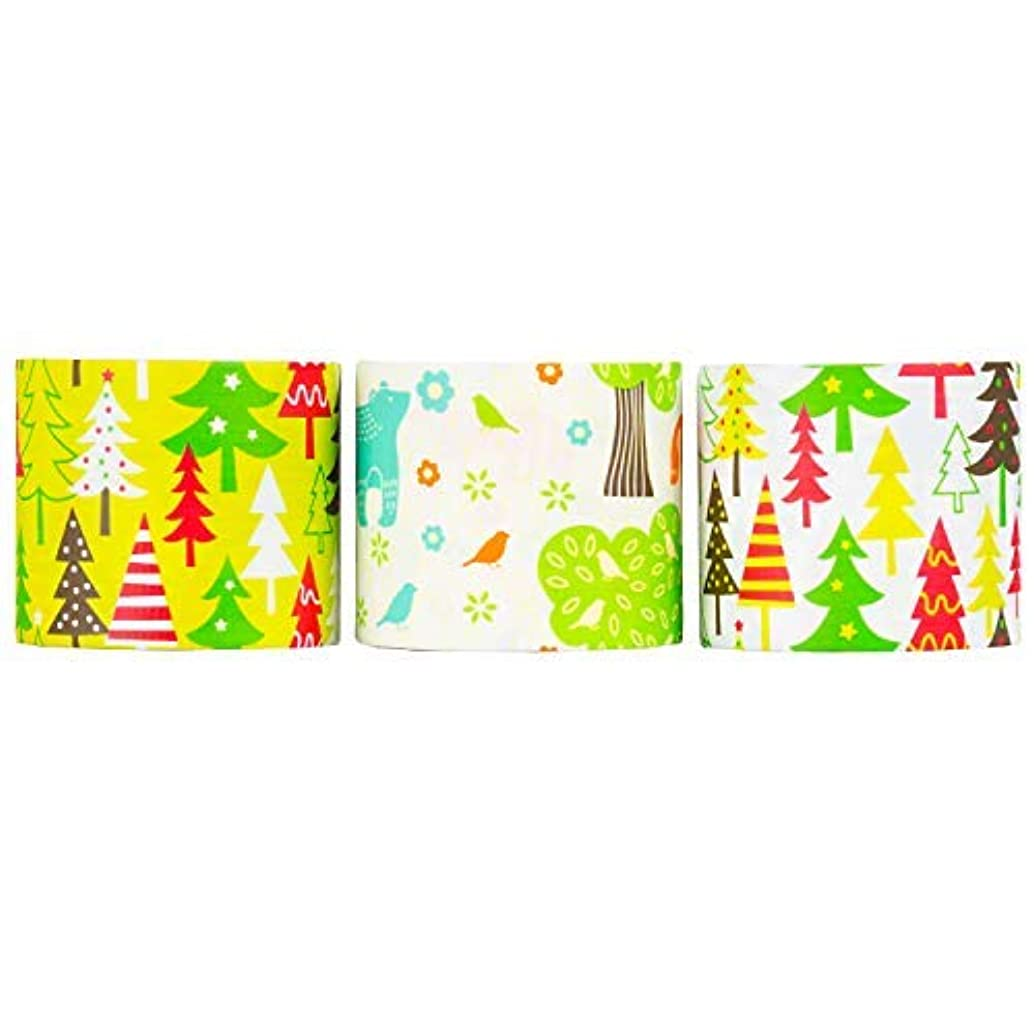 Design Duct Tape 48mm x 16 Feet - Kids Fun Extra Strong Printed Arts & Crafts Multi Pack - by Playlearn (Fall Forest)