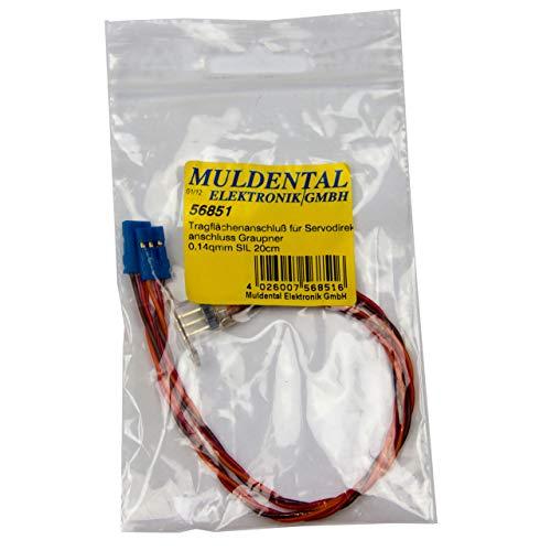 Connexion Aile Muldental pour Connexion directe servo Graupner 20cm 56851