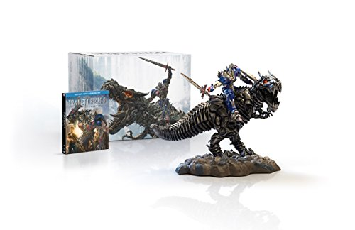 Transformers: Age of Extinction Limited Edition Gift Set with Grimlock and Optimus Collectible Statue [Blu-ray]