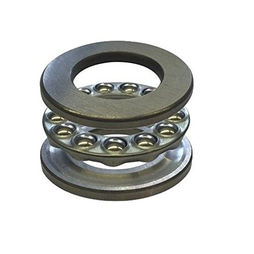 SKF 51324 M Grooved Race Thrust Bearing, 3 Piece, ABEC 1 Precision, 90° Contact Angle, Open, Brass Cage, Metric, 120mm Bore, 210mm OD, 70mm Width