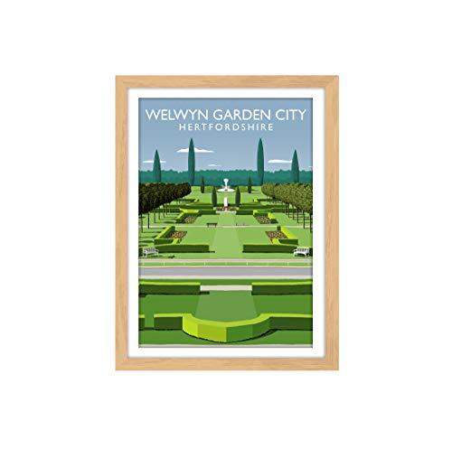 Vivarti Art - Welwyn Garden City 40x50cm Oak Frame