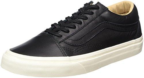 Vans Unisex-Erwachsene Old Skool Sneaker, Schwarz (Lux Leather/Black/Porcini), 44 EU