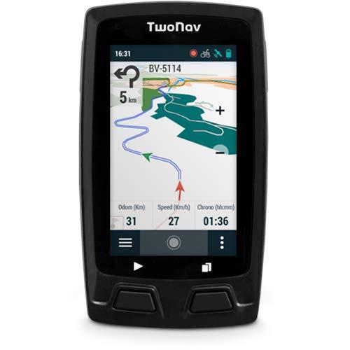TwoNav - Velo Mountain GPS für Mountainbiking | Fahrradcomputer mit Topografischer Karte und HF-Sensor-Herzfrequenzmesser, 3-Zoll-Touchscreen, Navi für MTB, kompakt leicht und robust, graue Farbe
