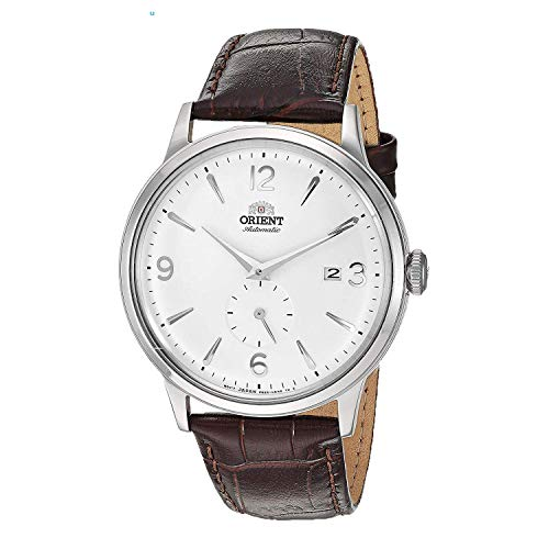Orient Men's Bambino Small Seconds Stainless Steel Japanese-Automatic Watch with Leather Strap, Brown, 21 (Model: RA-AP0002S10A)