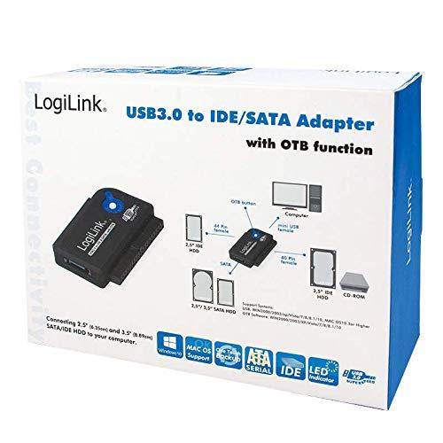 LogiLink AU0028A Adapter USB 3.0 zu IDE & SATA mit OTB Funktion