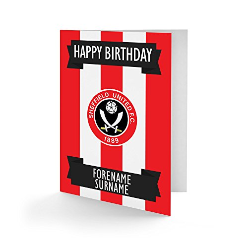 Official PERSONALISED Sheffield United FC Crest Birthday Card