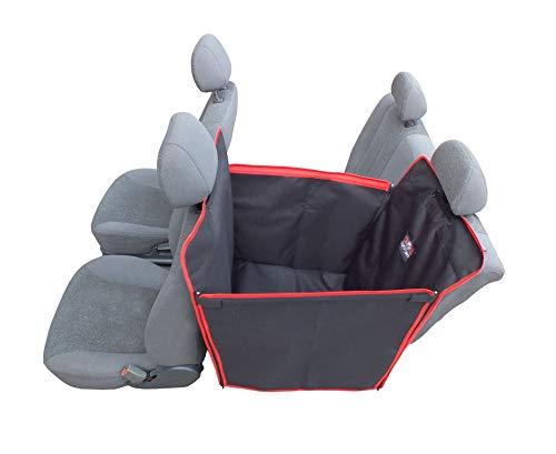 Dogs Comfort Manta universal para perros de 1 plaza para asiento trasero de coche fabricada en tela codura muy resistente y totalmente impermeable. Laterales plegables.